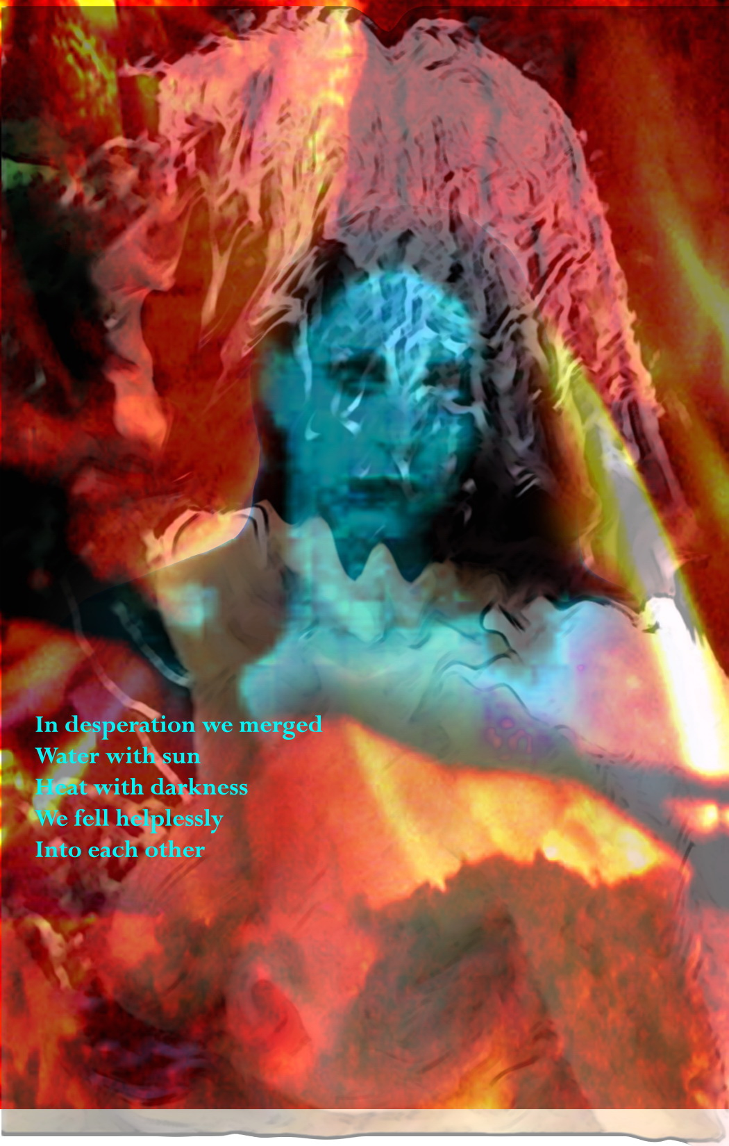 MJ,Fire,Blue photo poem